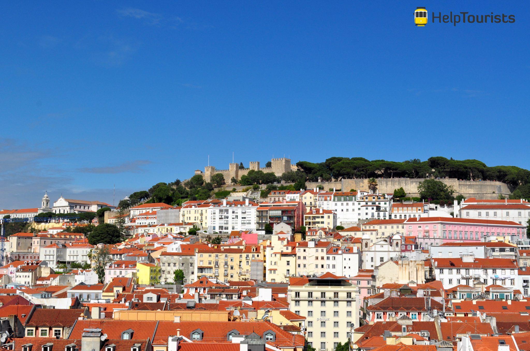 Lissabon Aussicht auf castelo de sao jorge