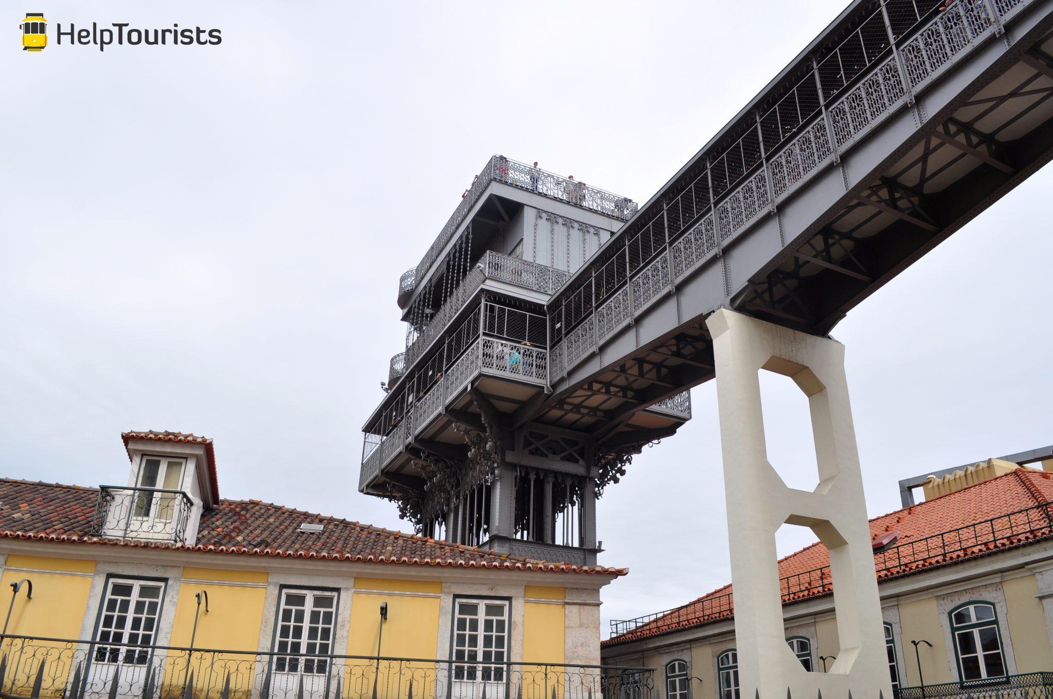 Lissabon Aussichtspunkt Santa Justa