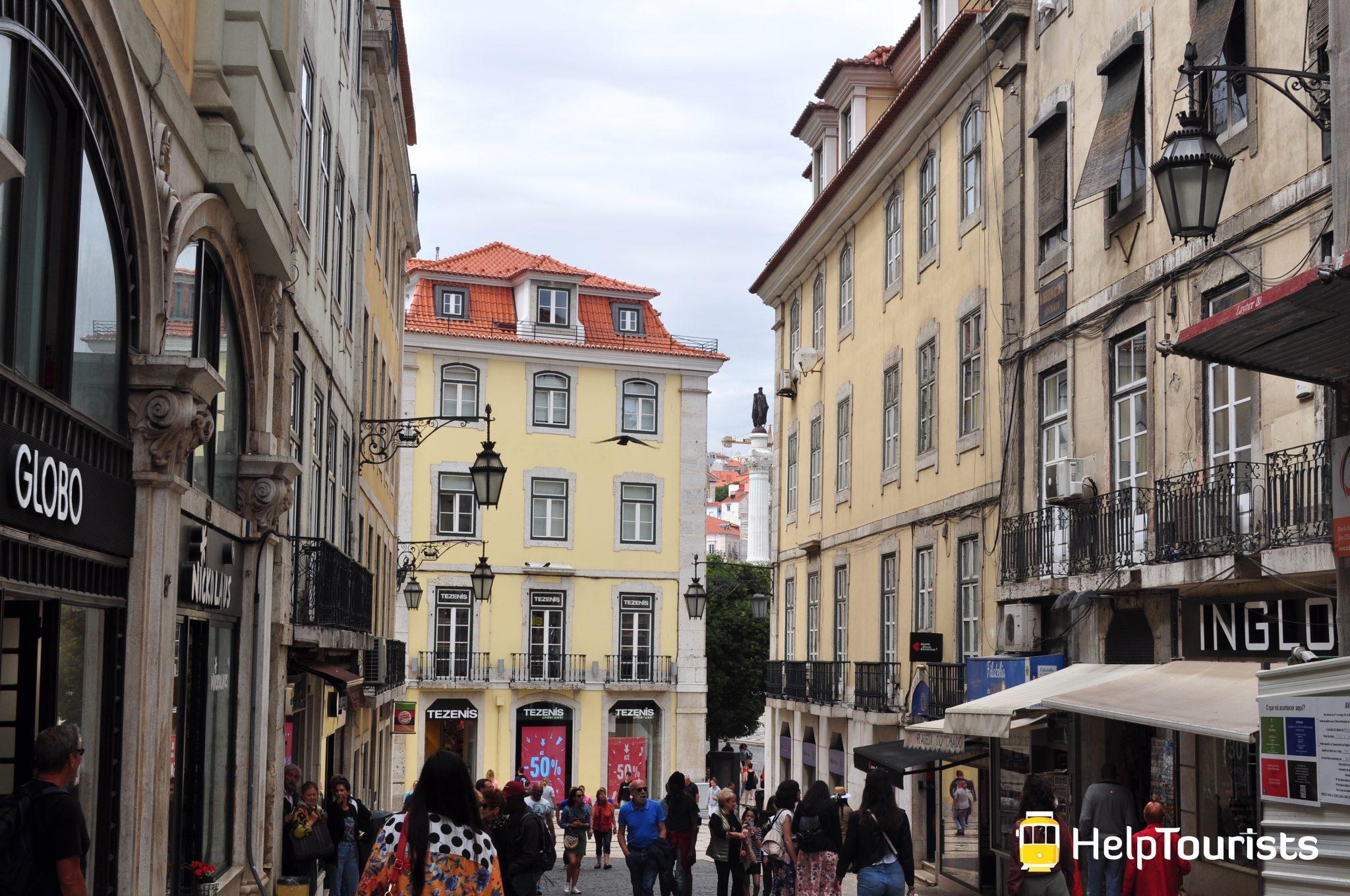 Lisbonne quartier Chiado Shopping