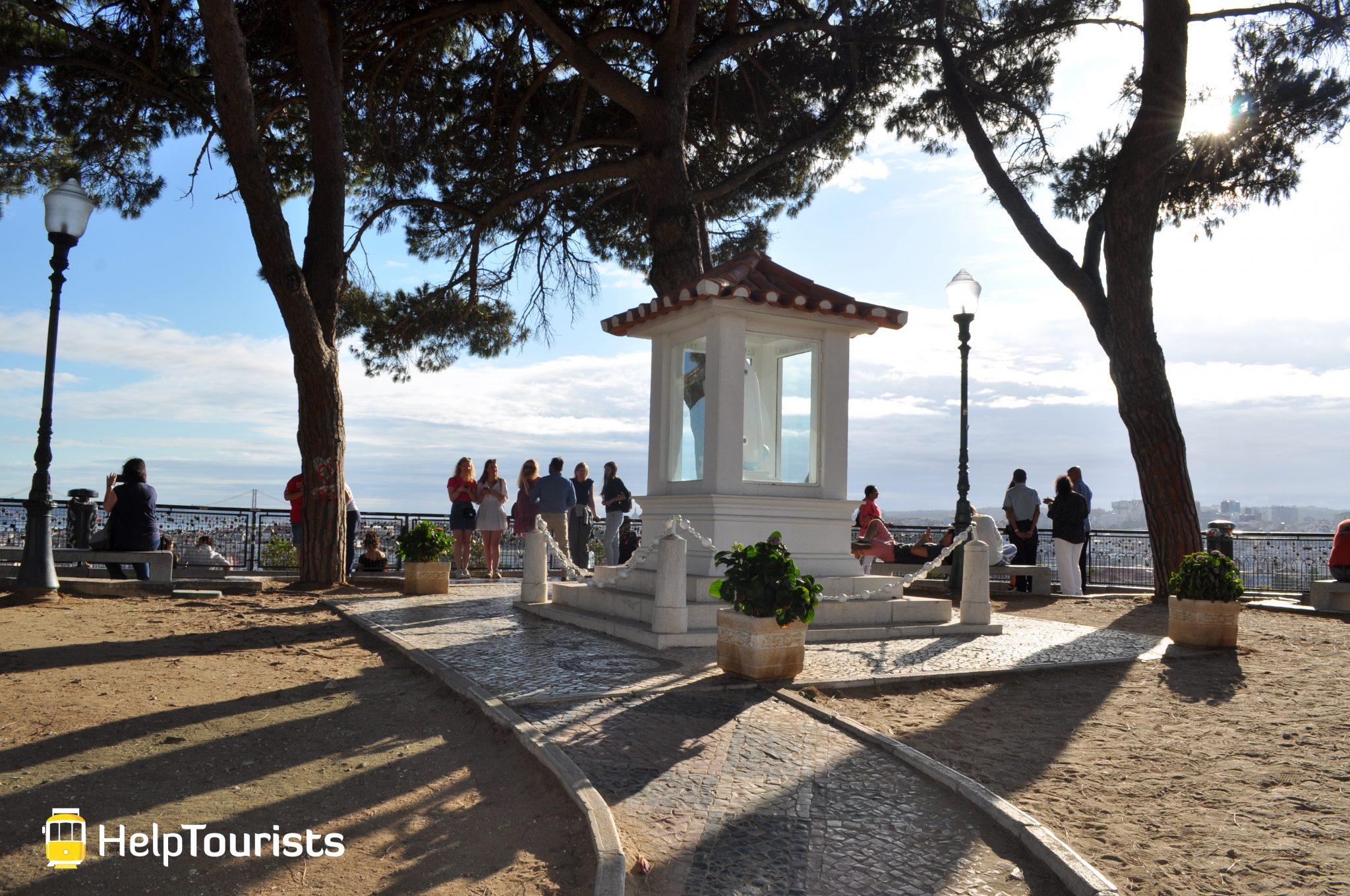 Lissabon Viertel Graca Aussichtspunkt