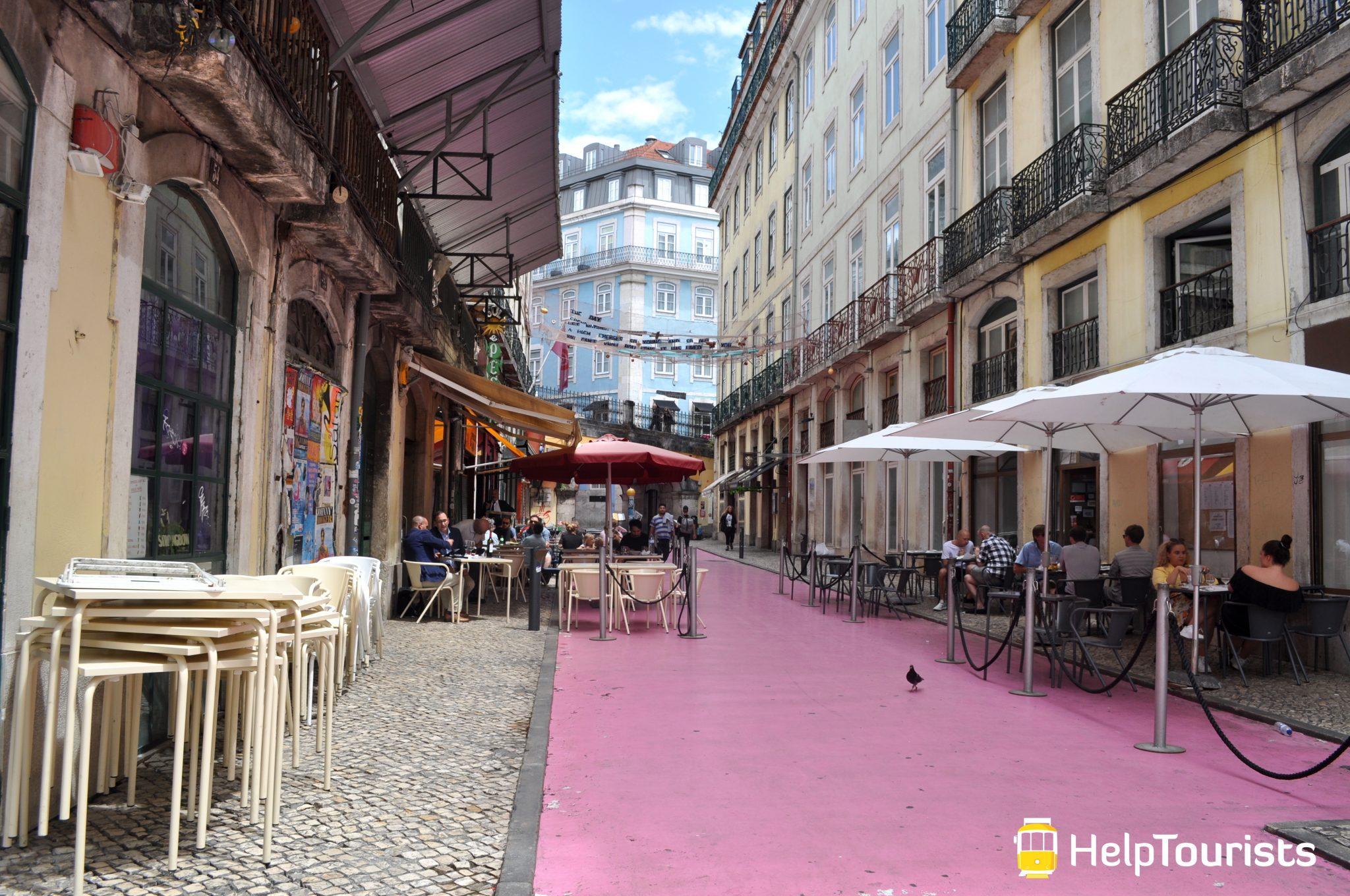 Lissabon rosa Straße