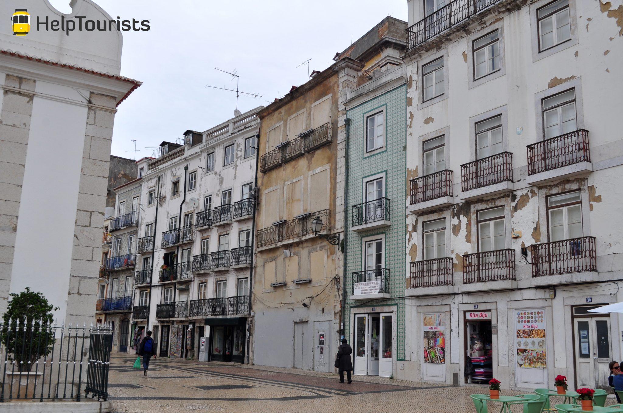Lisbonne visite quartier Mouraria facade