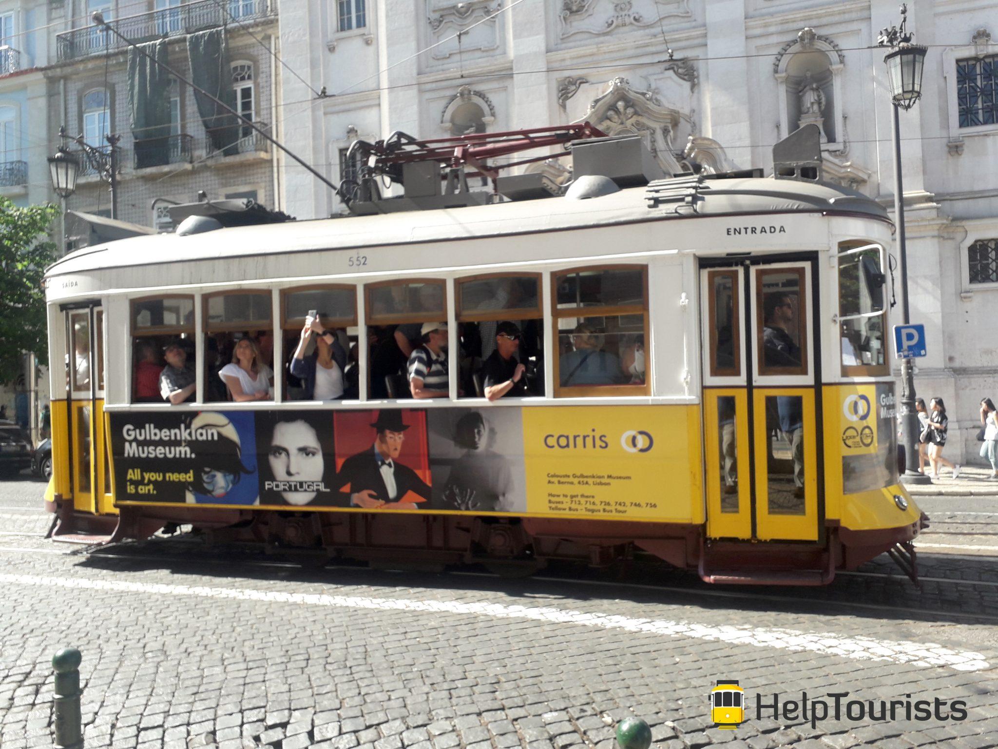 Lissabon Besichtigung Tram 28