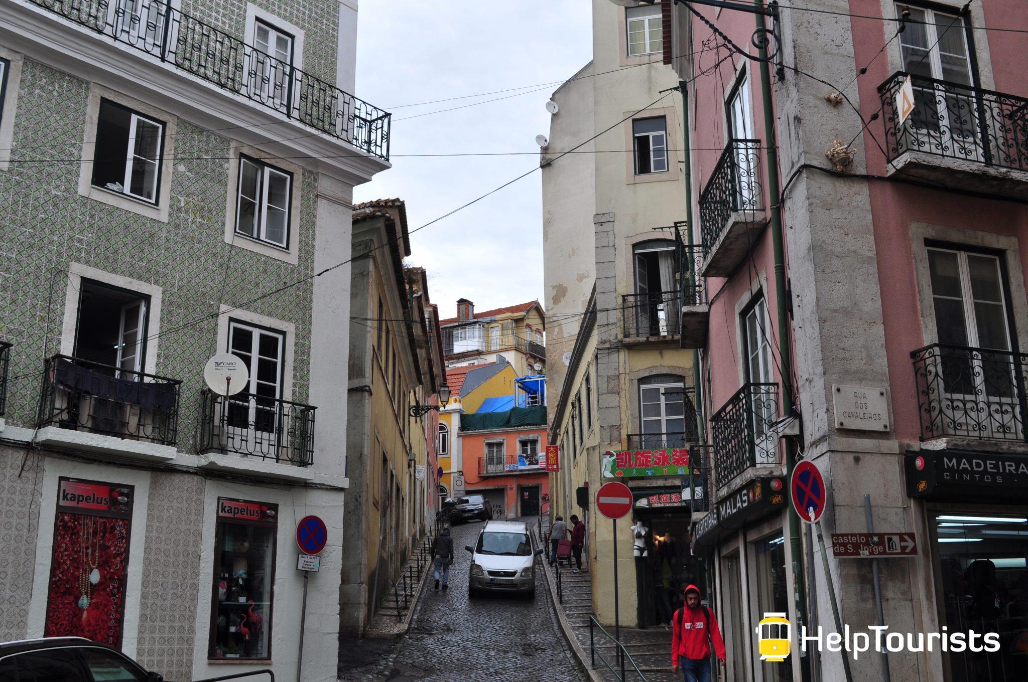 Lisbonne visite quartier Mouraria rue