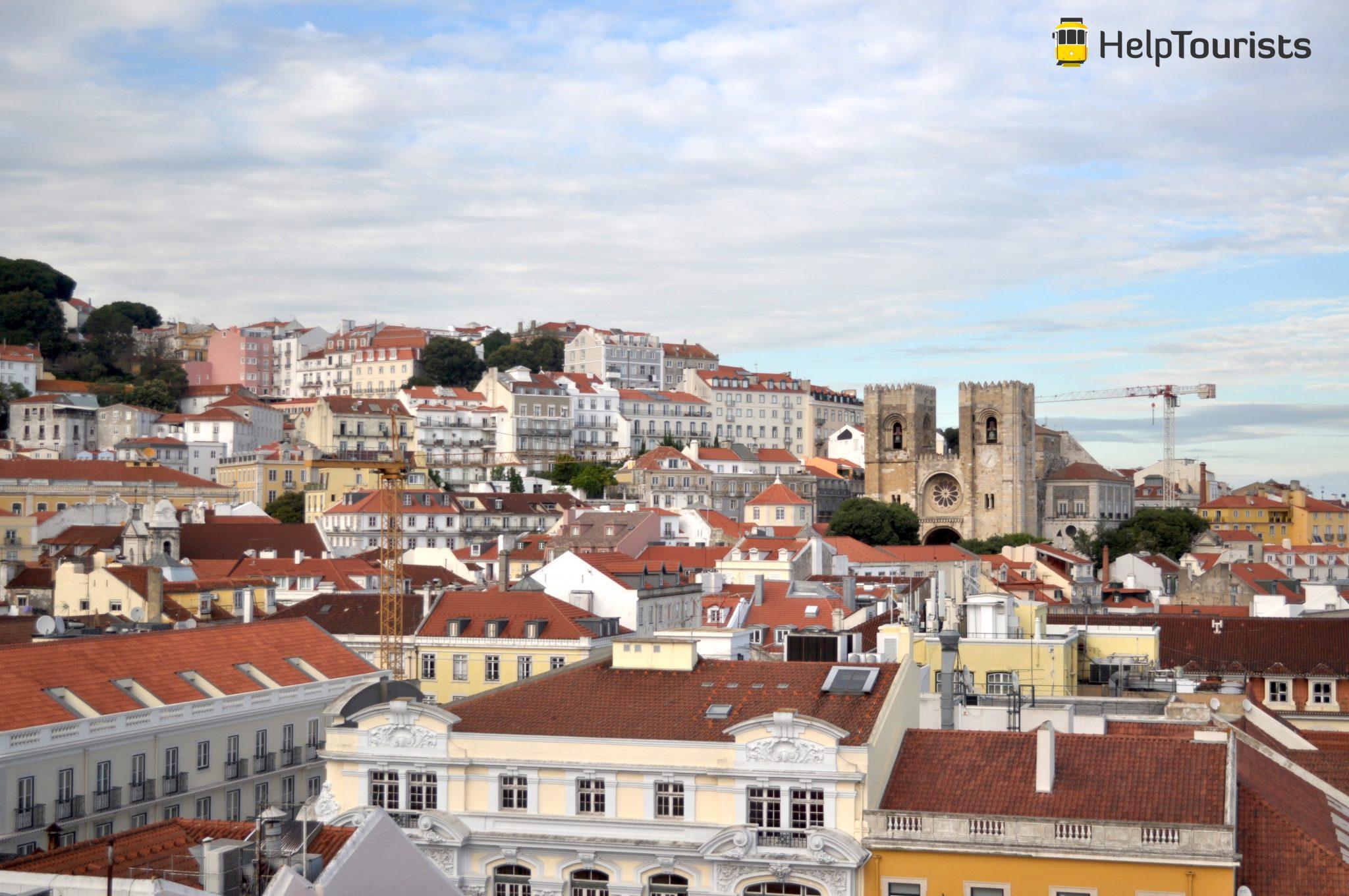 Lissabon Aussicht Kathedrale Sé