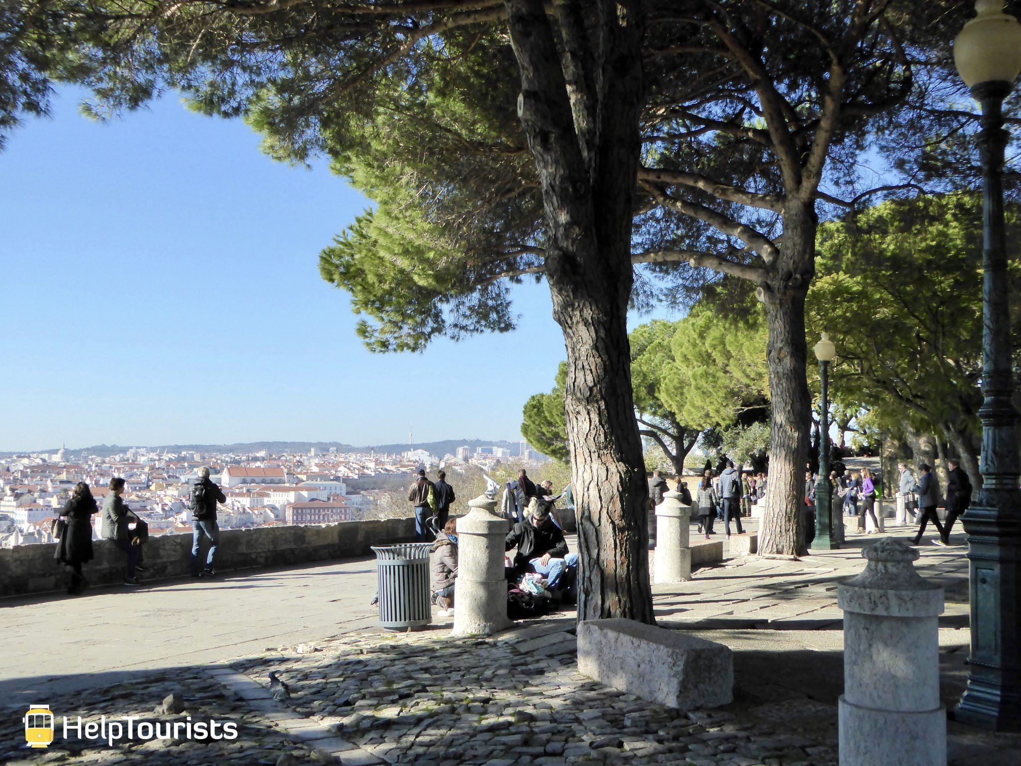 Lissabon Castelo de Sao Jorge Aussicht Sommer