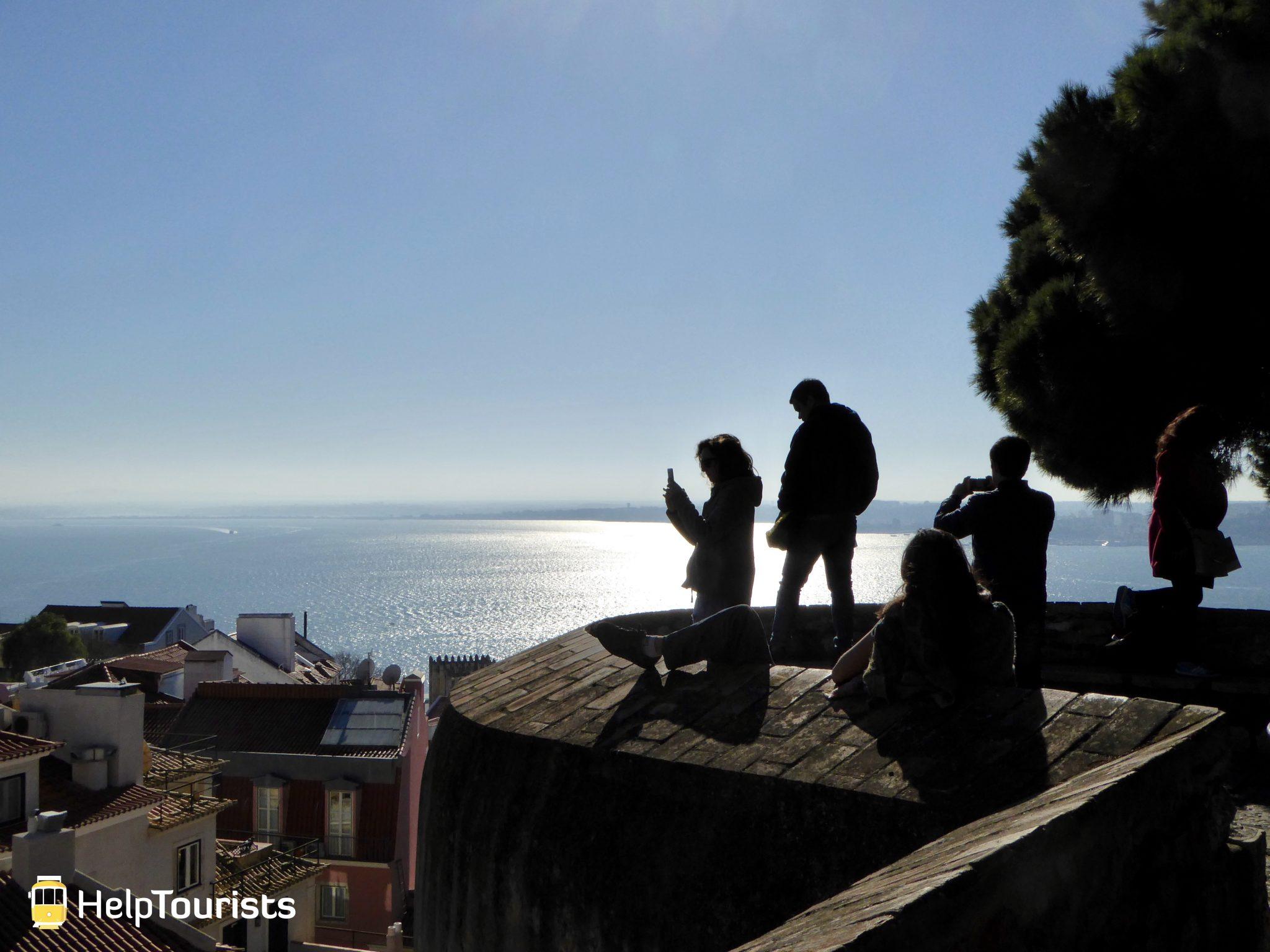 Lissabon Castelo de Sao Jorge Meer Aussicht