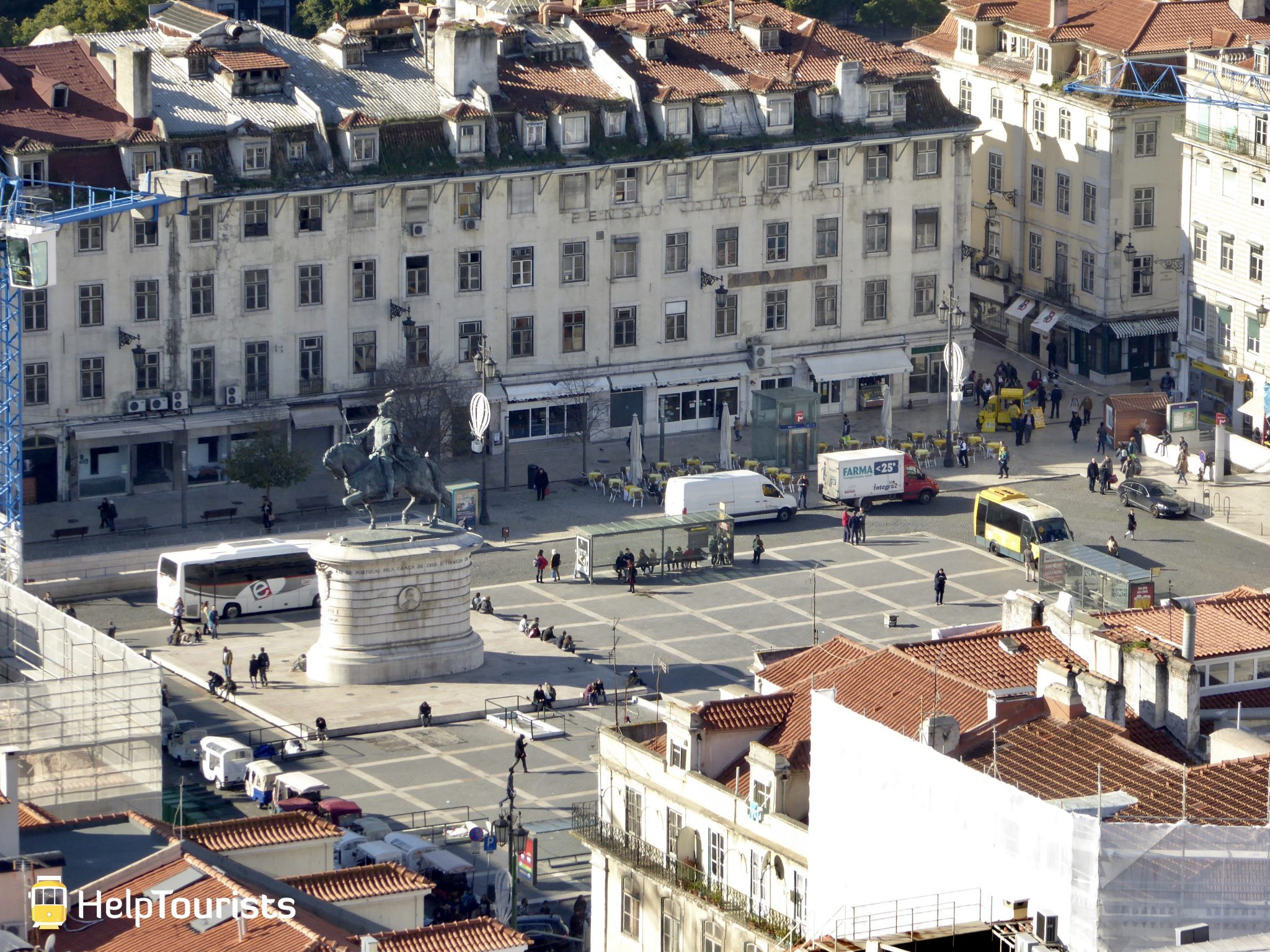 Lissabon Platz Figueira Statue