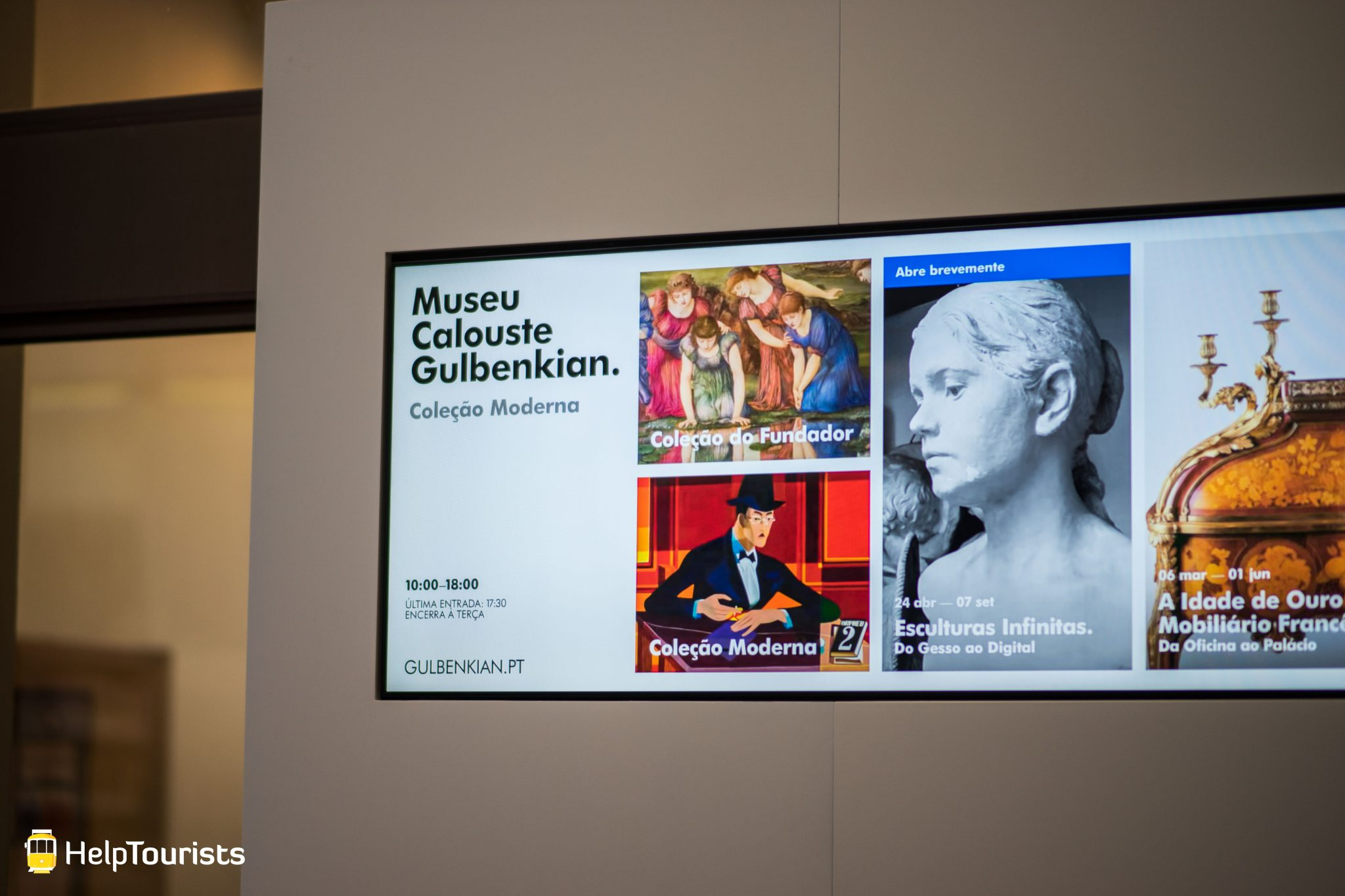 Lissabon_Museu-Calouste-Gulbenkian_Innen_Bildschirm