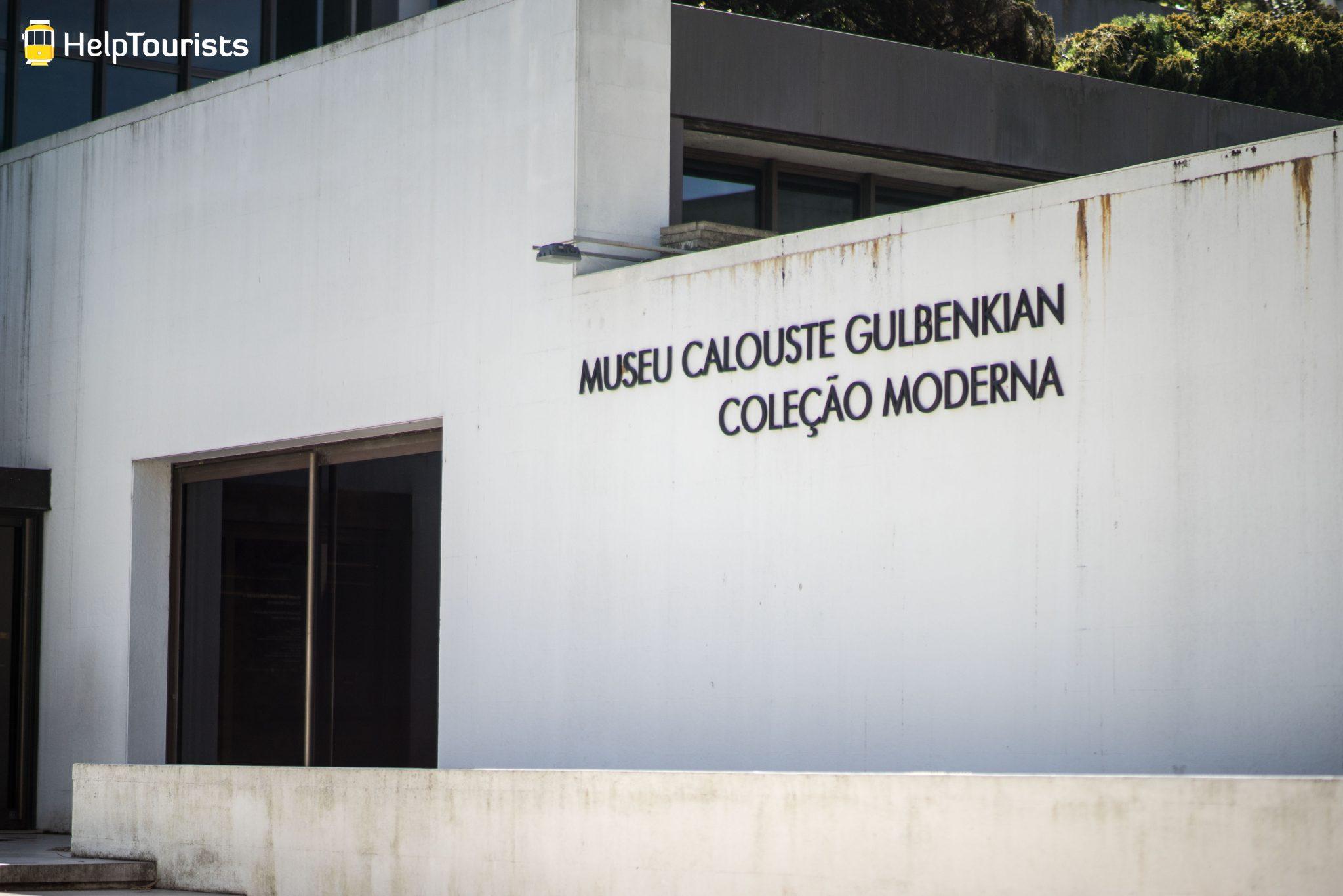 Lissabon_Museu-Calouste-Gulbenkian_aussen_Schild