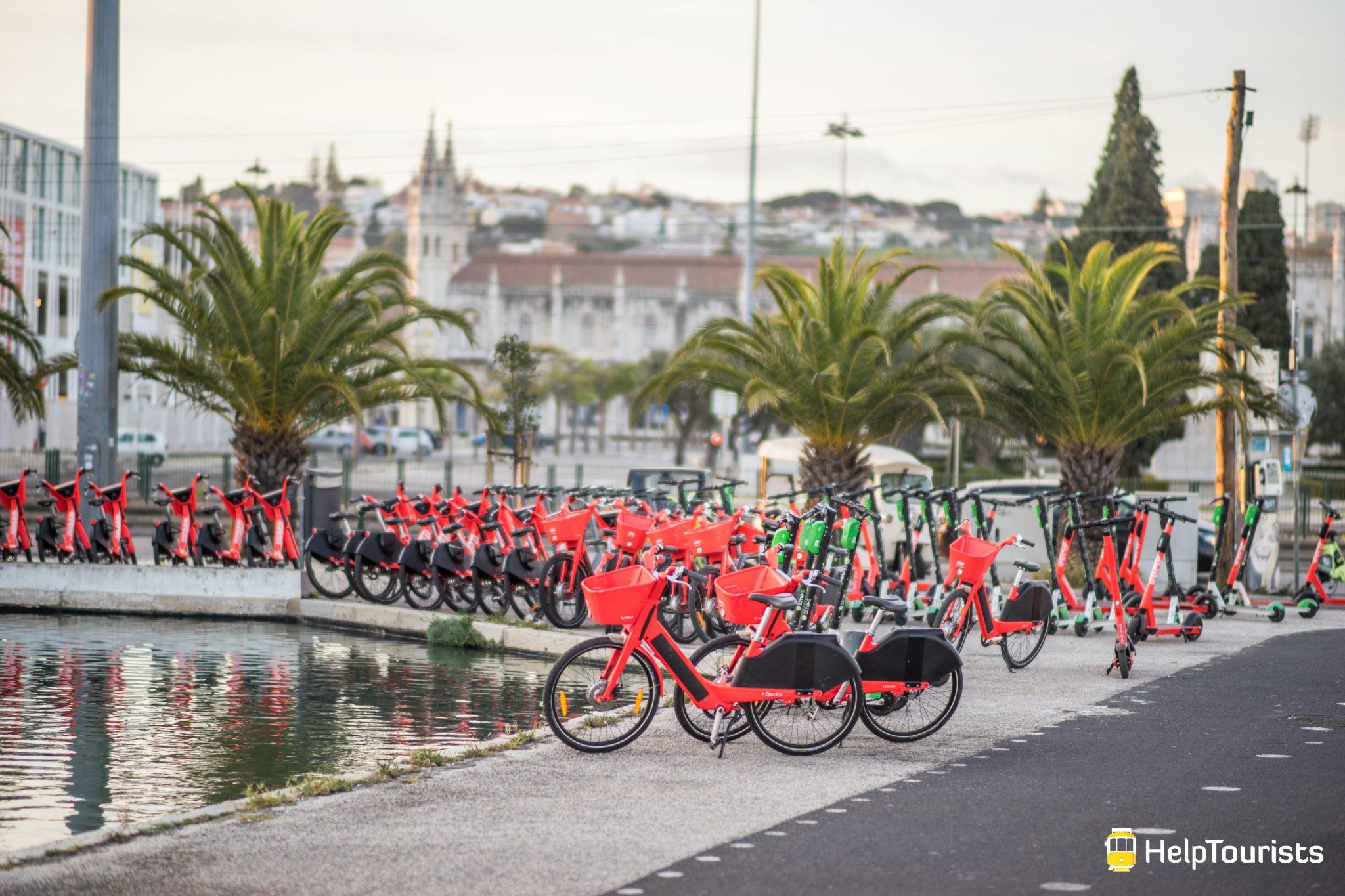 Lissabon_Belem_Fahrraeder_Jump